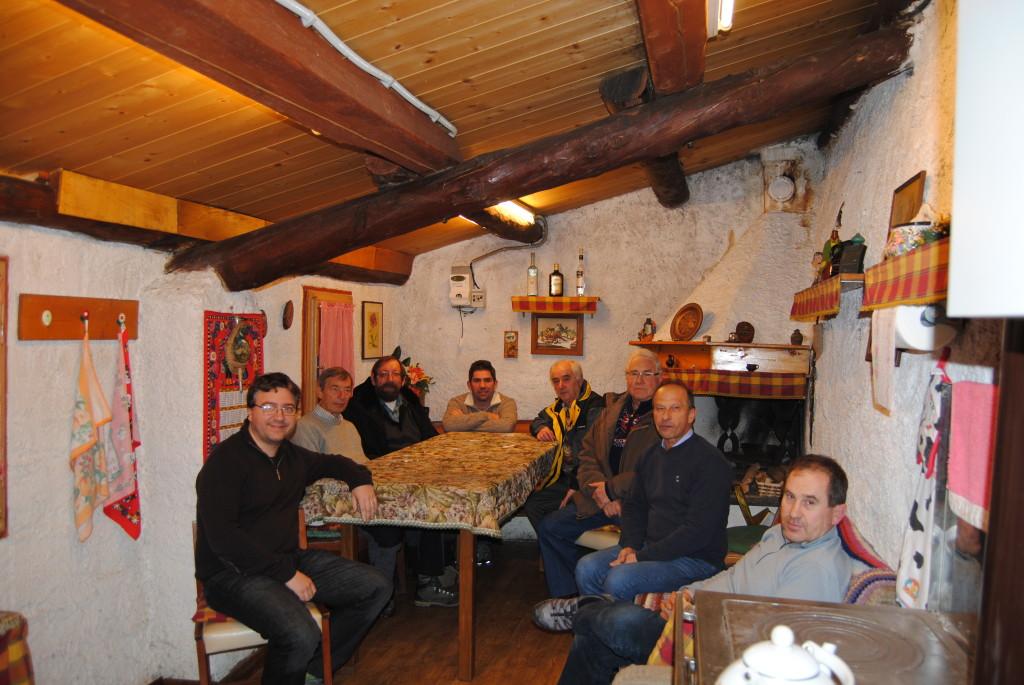 Castagnata ed auguri in sezione, QTH di I3EVK, 19 dicembre 2014